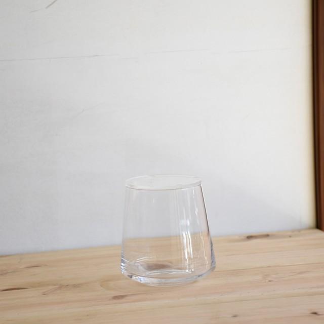 【ガラス容器】台形ポット・S アクリルふた付き(70xh90mm)