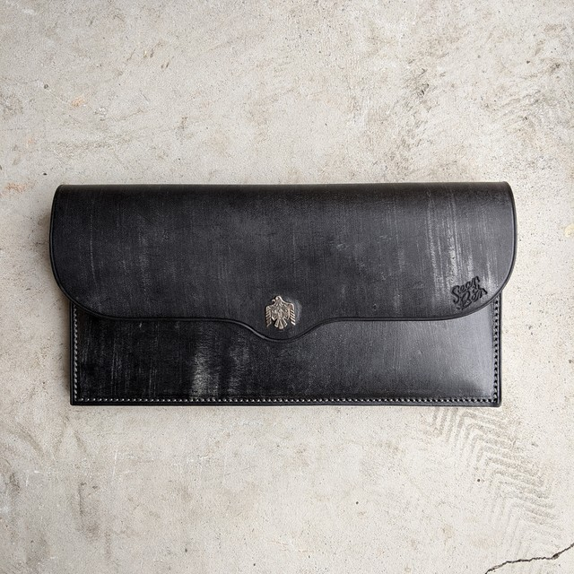 925 EAGLE WALLET -BLACK-