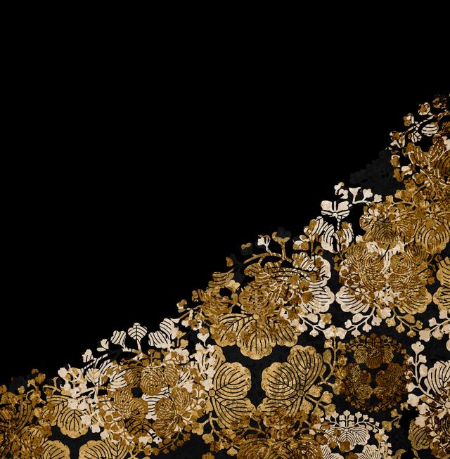 家紋装飾ゴールド キャミソールドレス