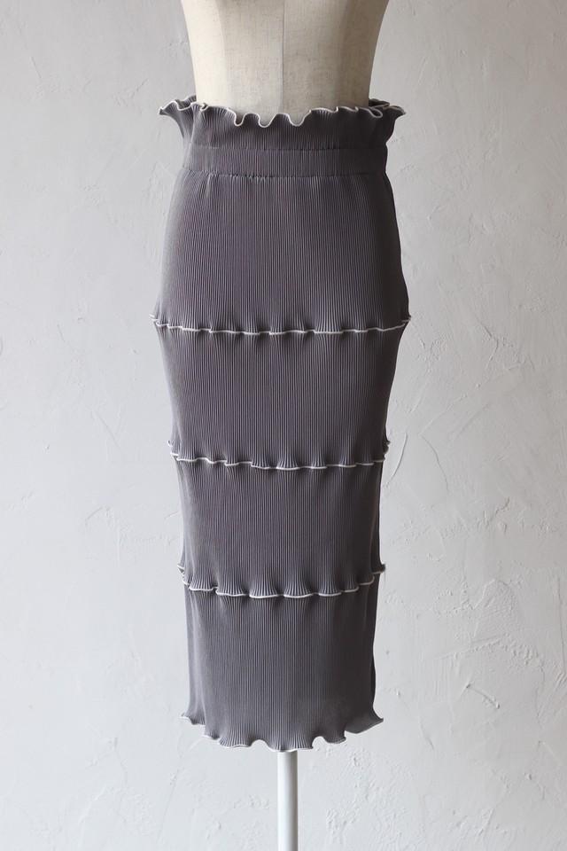 【kotohayokozawa】pleats skirt-gray