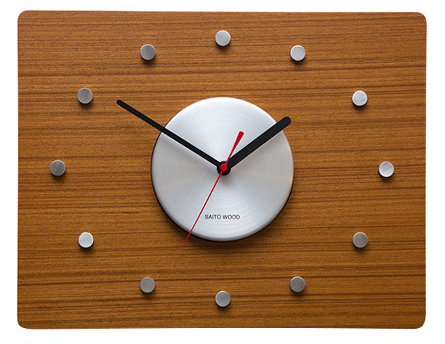 SAITO WOOD WAL CLOCK CL-02T