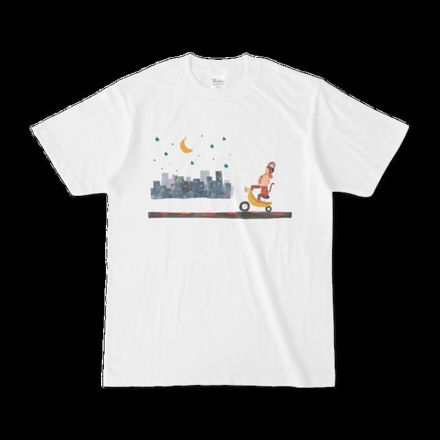 前面プリントイラストTシャツ 『さるツーリング』