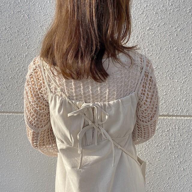 【rihoSelect】ribbon cami op