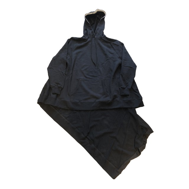 MONSE Draped Hoodie Black