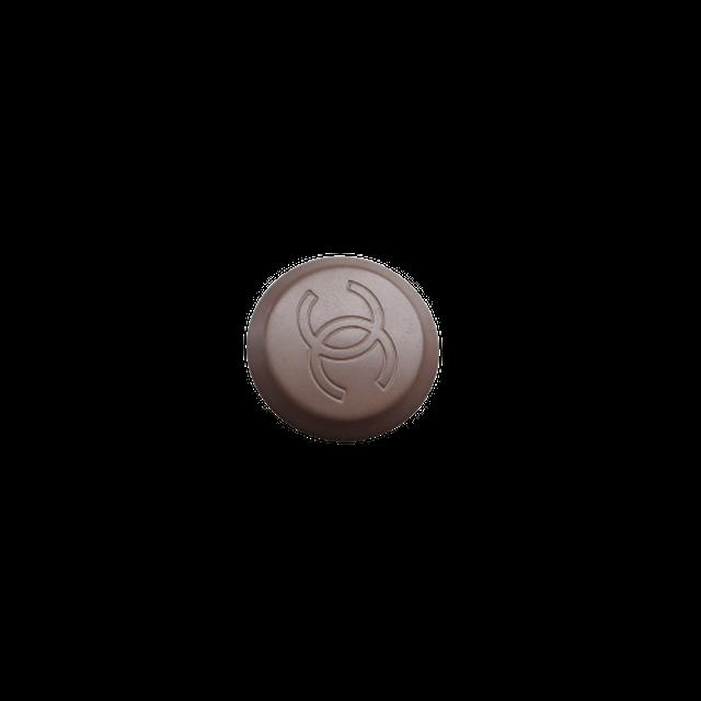 【VINTAGE CHANEL BUTTON】ブラウン ココマーク ボタン 2.0cm