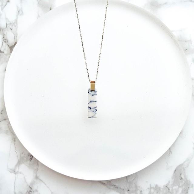 Howlite Bar Necklace
