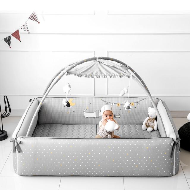 バンパーベッド Puppy レギュラーサイズ  ベビーサークル ベビー 赤ちゃん サークル ベッド