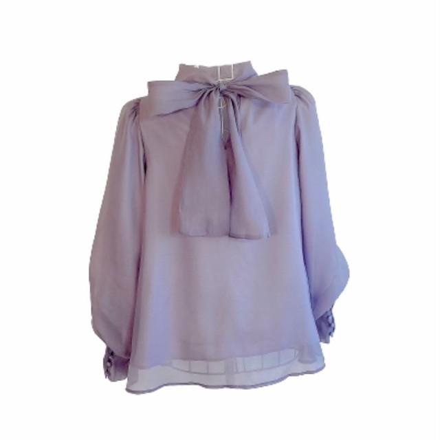 【即納】volume tulle tops(Lavender)