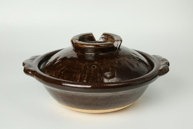 雲井窯7寸土鍋(飴)〈1~2人用〉 信楽焼