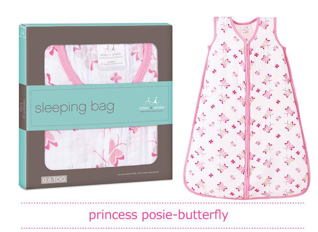 エイデンアンドアネイ おくるみ スリーピングバッグ 【aden+anais】 SKU8027 princess posie-butterfly