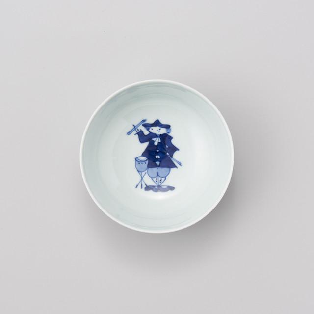 """【青花】""""ハーモニー"""" 4寸ボウル(ティンパニ)"""
