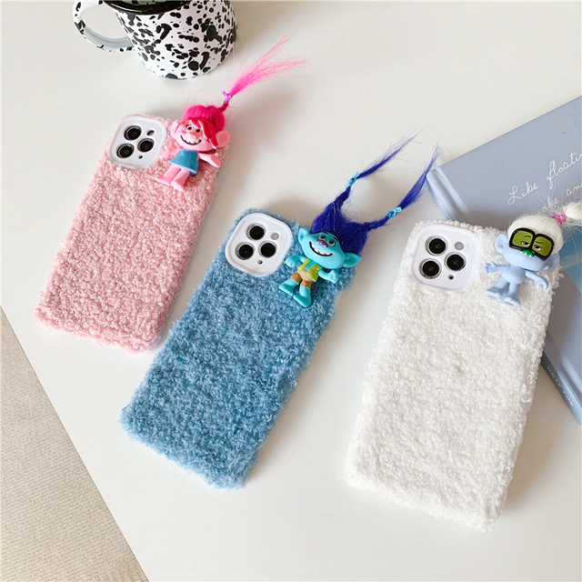 iphoneケース iphone11 スマホケース おもしろ 韓国 人気 人形 ケース モコモコ