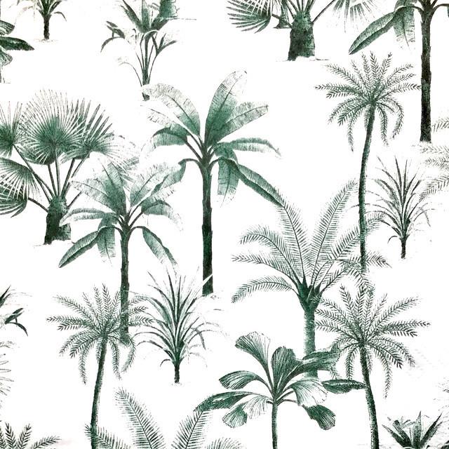 【H&M HOME】バラ売り1枚 ランチサイズ ペーパーナプキン PALM TREE ホワイト
