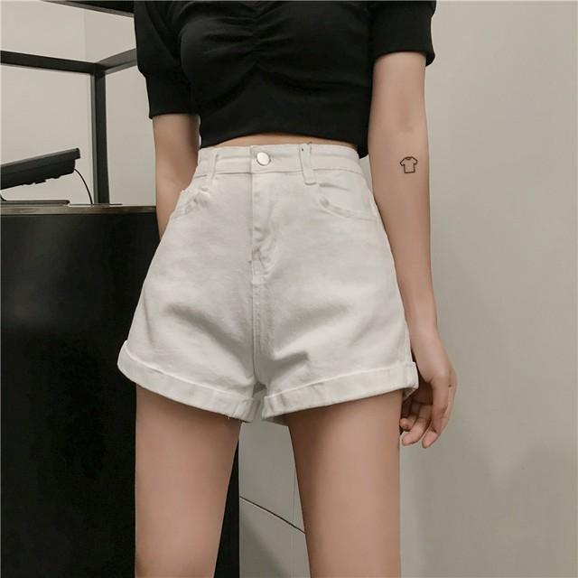 【bottoms】新作着やせ気質韓流ストレート合せやすいレトロショートパンツ