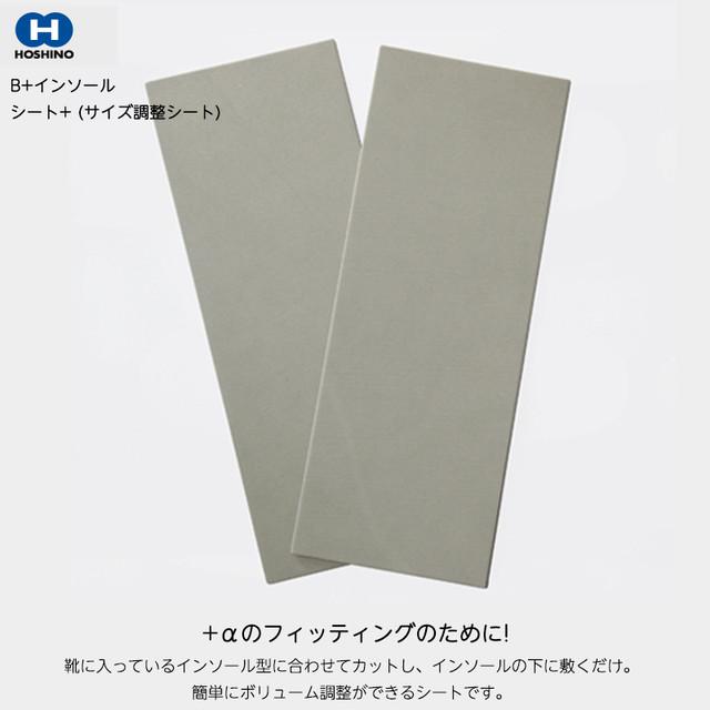 HOSHINO(ホシノ)B+インソール シート+ (サイズ調整シート) +α フィッティング
