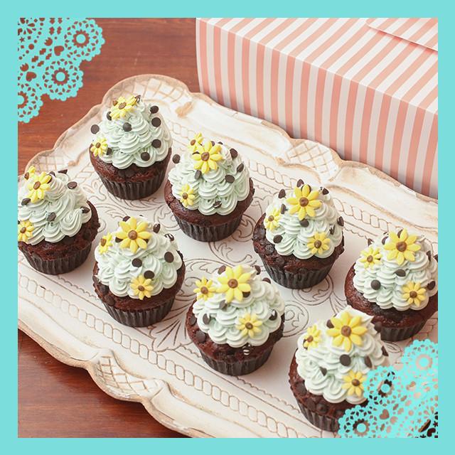 夏限定! チョコチップミントカップケーキ 8個セット
