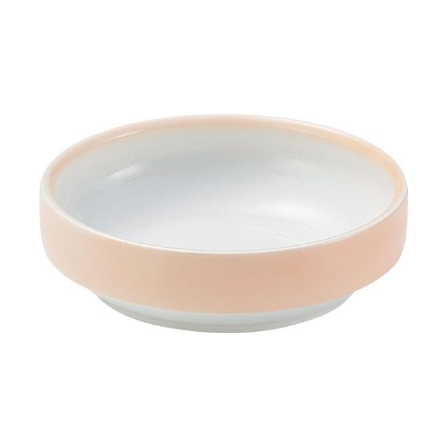【1714-2740】強化磁器 14.5cm すくいやすい食器 ぼかしオレンジ
