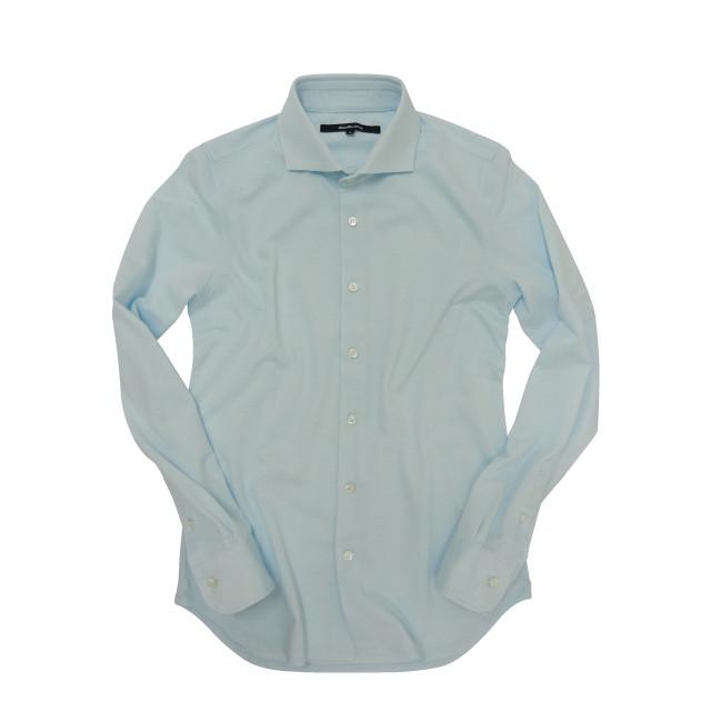 DJS-002 decollouomo メンズドレスシャツ 長袖 SKYBLUE - スカイブルー