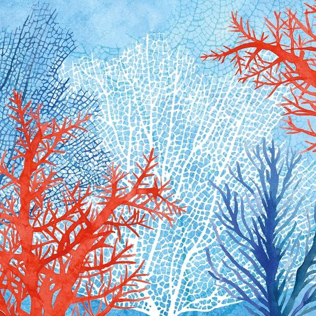 入荷しました|2020春夏【Paperproducts Design】バラ売り2枚 ランチサイズ ペーパーナプキン The Ocean ブルー