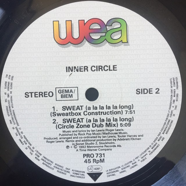 Inner Circle ‎– Sweat (A La La La La Long)