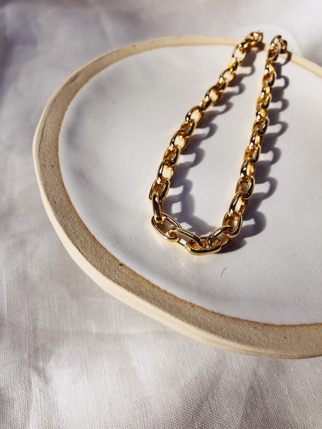 Chunky Oval Chain Necklace