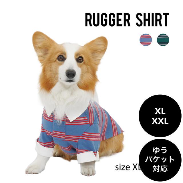 Mandarine brothers(マンダリンブラザーズ)RUGGER SHIRT ラガーシャツ XL ,XXLサイズ ゆうパケット対応(1個まで)