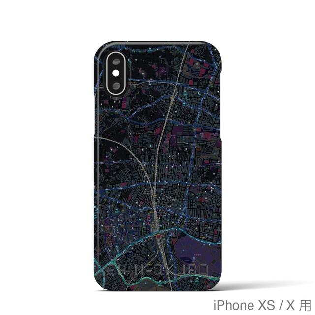 【新大久保】地図柄iPhoneケース(ブラック)
