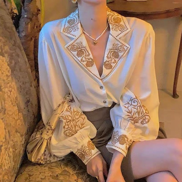 antique embroidery blouse