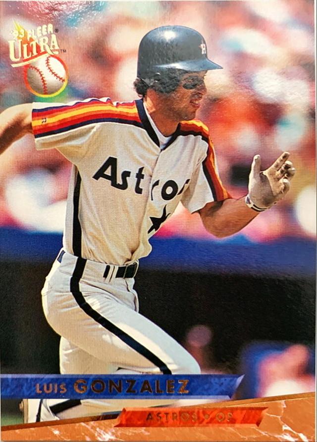 MLBカード 93FLEER Luis Gonzalez #040 ASTROS