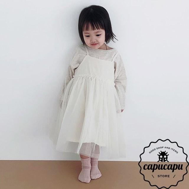 [予約] tulle jumper skirt 2Colors チュールジャンパースカート