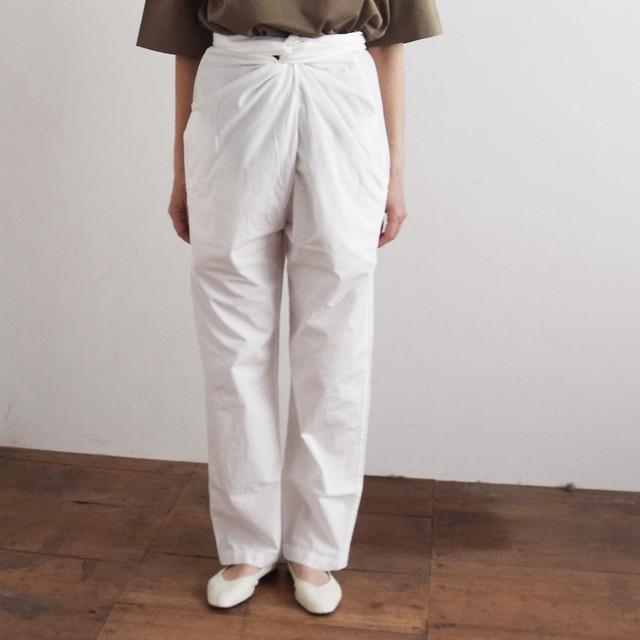 COSMIC WONDER  コズミックワンダー オーガニックコットン ラップドパンツ  Beautiful organic cotton wrapped pants 11CW11085 white