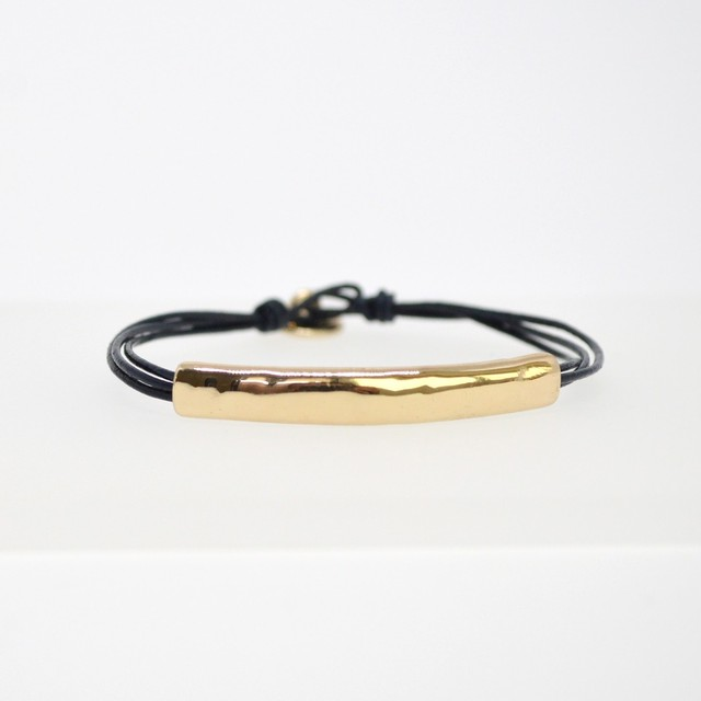 Metal Leather Bracelet(DarkNavy)