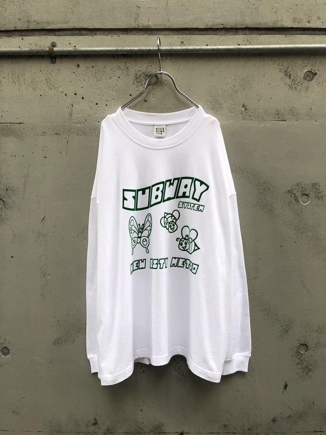 『RICE NINE TEN』FLOCKY PRINT SUB WAY L/S TEE