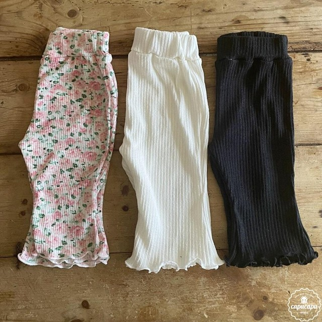 «sold out» Aosta rib pants 2colors リブパンツ