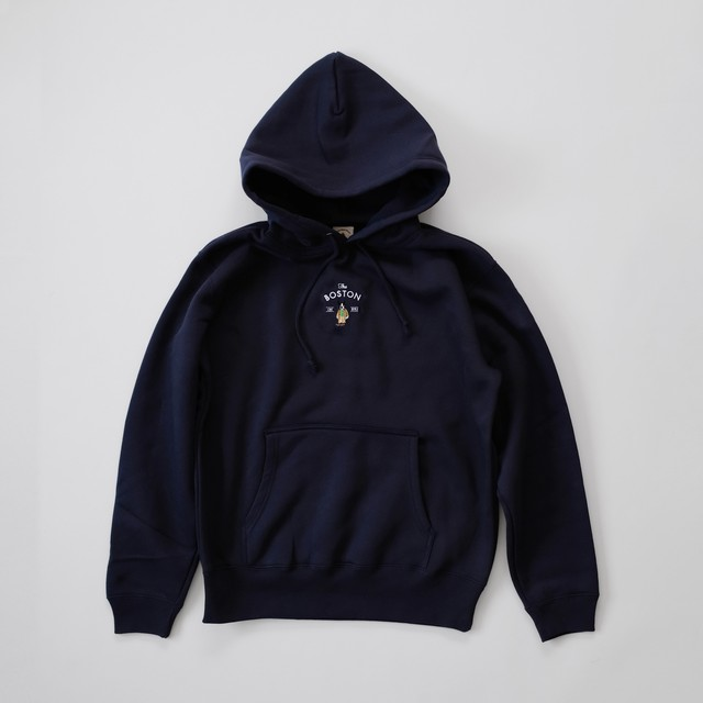 Boston Hooded Sweat[Navy]