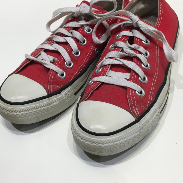 """USED """"  CONVERSE USA  ALL STAR red OX """""""