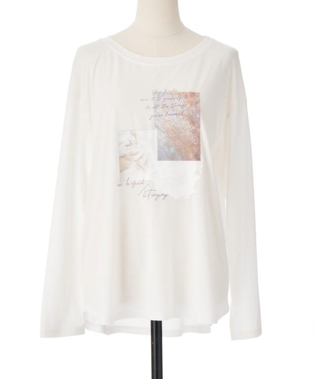 LILLIAN CARAT コラージュデザインロングTシャツ