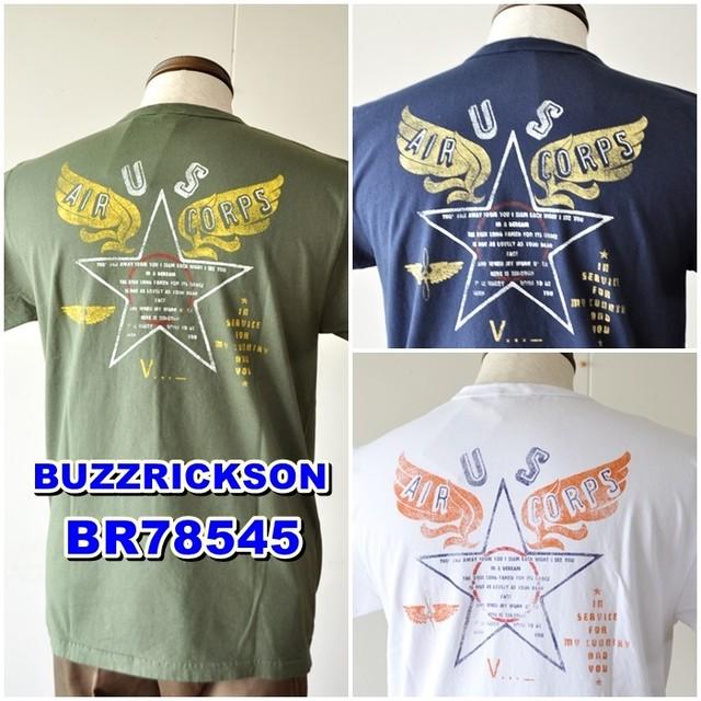 バズリクソンズ  BUZZ RICKSON'S 半袖Tシャツ BR78545 メンズ Tシャツ ミリタリー アメリカ製