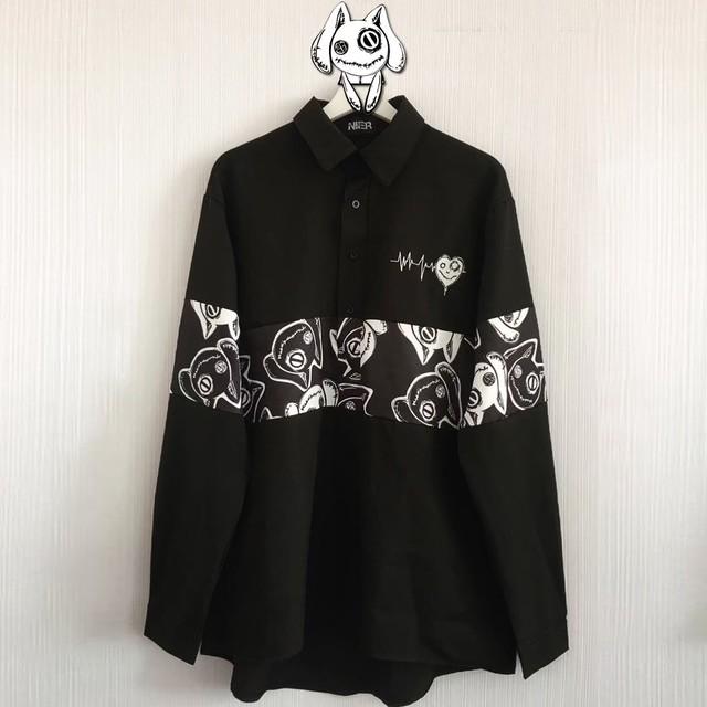 ブロッキングプルオーバーシャツ【FACE NieR】