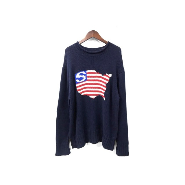 Stussy - Graphic Cotton Knit (size - L) ¥11000+tax