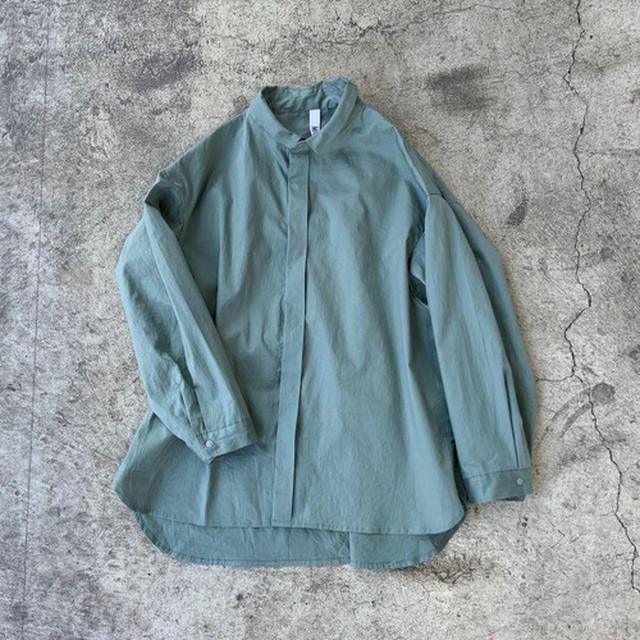 MOUN TEN. 80/1 washer big shirts (ashgreen) [MT201004-a] last140! 1点のみメール便可