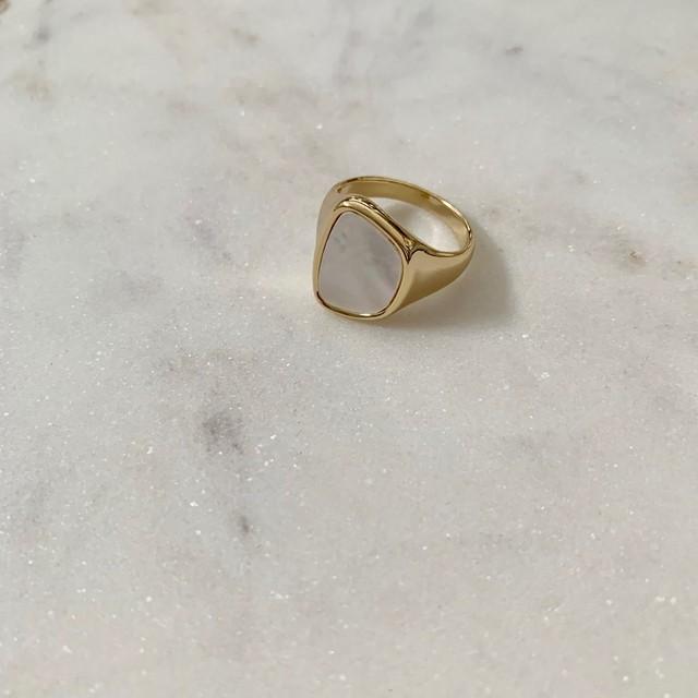 natural shell ring