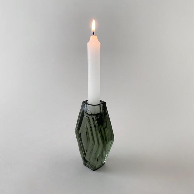 Candle Holder Infinite Hexagon Smokey Green|キャンドルホルダー