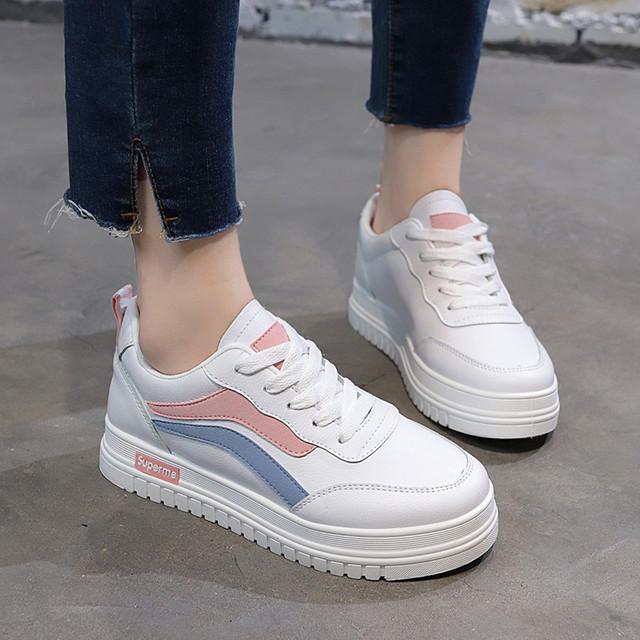 【shoes】スニーカーレディース履き心地よい抗菌防臭丸トゥカジュアル