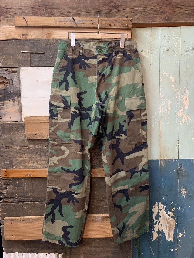 90's US ARMY BDU PANTS COTTON NYLON S-S