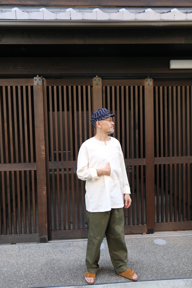 THE HINOKI オーガニックコットンポプリン プルオーバーシャツ NATURAL #19W-6