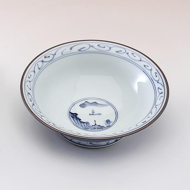 地紋山水 小鉢