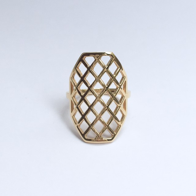 Octagon Ring / K18YG