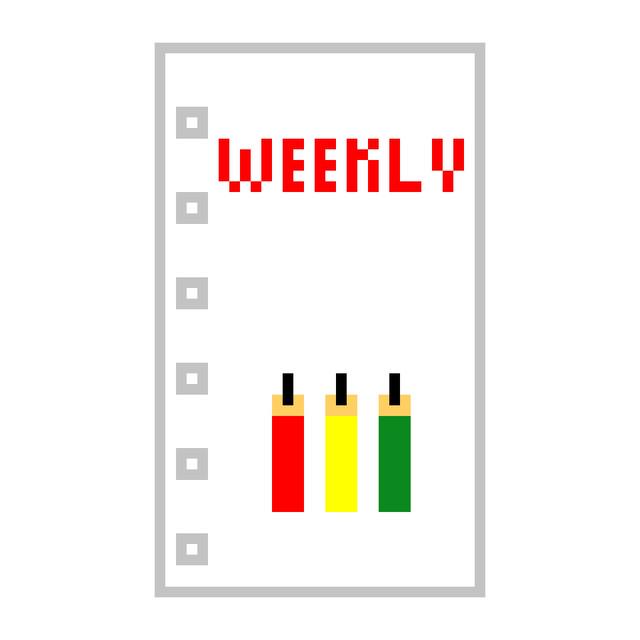 システム手帳 ミニ6穴 リフィル ミミちゃん 週間 ウィークリー AMPM 12週分
