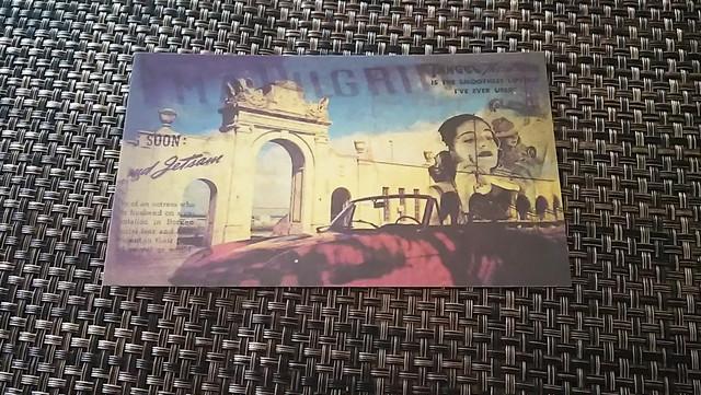 門 彫刻 ポストカード